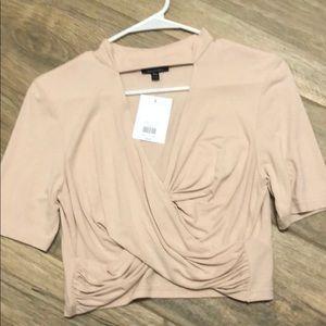 Crop top short sleeve NWT sz 10
